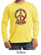 Kids Peace Shirt Funky Peace Long Sleeve Tee T-Shirt
