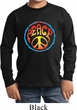 Kids Peace Shirt Psychedelic Peace Long Sleeve Tee T-Shirt