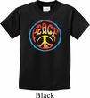 Kids Peace Shirt Psychedelic Peace Tee T-Shirt