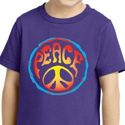 Kids Peace Shirt Psychedelic Peace Toddler Tee T-Shirt