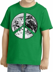 Kids Peace Shirt Peace Earth Toddler Tee T-Shirt