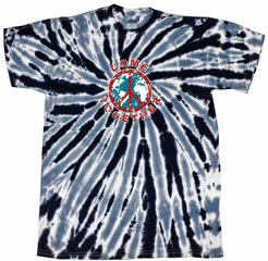 Kids Peace Tie Dye Shirt Come Together Black Twist Youth Tie Dye Tee