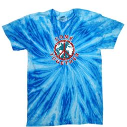Kids Peace Tie Dye Shirt Come Together Blueberry Twist Youth Tie Dye