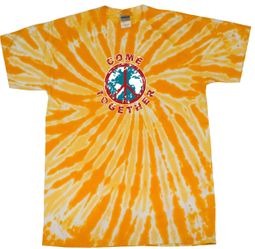 Kids Peace Tie Dye Shirt Come Together Gold Twist Youth Tie Dye Tee