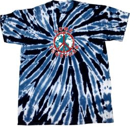 Kids Peace Tie Dye Shirt Come Together Navy Twist Youth Tie Dye Tee