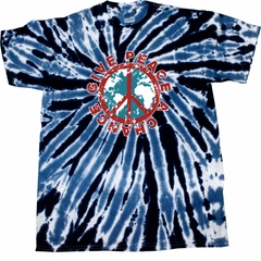 Kids Peace Tie Dye Shirt Give Peace A Chance Navy Youth Tie Dye