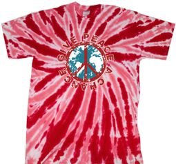 Kids Peace Tie Dye Shirt Give Peace A Chance Red Youth Tie Dye