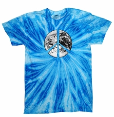 Kids Peace Tie Dye Shirt Peace Earth Blueberry Twist Youth Tie Dye