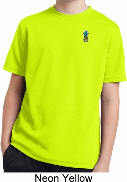 70e689b06383e Kids Pineapple Patch Pocket Print Dry Wicking Youth T-shirt ...