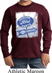 Kids Shirt Vintage Sign Genuine Ford Parts Long Sleeve Tee T-Shirt