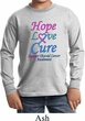 Kids Thyroid Cancer Hope Love Cure Youth Long Sleeve