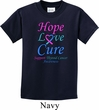 Kids Thyroid Cancer Hope Love Cure Youth T-shirt