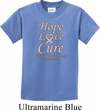 Kids Uterine Cancer Awareness Hope Love Cure Youth T-shirt