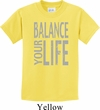 Kids Yoga Shirt Balance Your Life Tee T-Shirt
