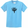 Kids Yoga Shirt Black Tree of Life Youth Tee T-Shirt