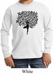 Kids Yoga Shirt Black Tree Pose Long Sleeve Tee