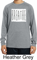 Kids Yoga Shirt Breathe Dry Wicking Long Sleeve Tee T-Shirt