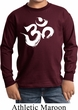 Kids Yoga Shirt Brushstroke Aum Long Sleeve Tee T-Shirt