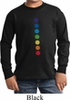 Kids Yoga Shirt Glowing Chakras Long Sleeve Tee T-Shirt