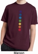 Kids Yoga Shirt Glowing Chakras Moisture Wicking Tee T-Shirt