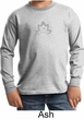 Kids Yoga Shirt Grey Namaste Lotus Long Sleeve Tee T-Shirt