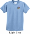 Kids Yoga Shirt Hippie Sun Patch Pocket Print Tee T-Shirt