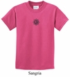 Kids Yoga Shirt Black Lotus OM Patch Small Print Tee T-Shirt