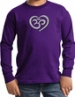 Kids Yoga Shirt OM Heart Long Sleeve Tee T-Shirt