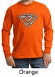 Kids Yoga Shirt Super OM Youth Long Sleeve Shirt