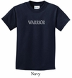 Kids Yoga Shirt Warrior Text Tee T-Shirt