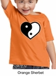 Kids Yoga Shirt Yin Yang Heart Toddler Tee T-Shirt