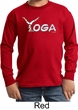 Kids Yoga Shirt Yoga Spelling Long Sleeve Tee T-Shirt