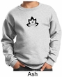 Kids Yoga Sweatshirt Black Namaste Lotus Sweat Shirt