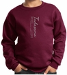 Kids Yoga Sweatshirt Tadasana Mountain Pose Youth Sweat Shirt