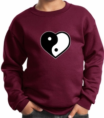 Kids Yoga Sweatshirt Yin Yang Heart Sweat Shirt