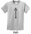 Kids Yoga T-shirt 7 Chakras Black Print Youth Tee