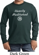 Kids Yoga Tee Heavily Meditated with OM Youth Long Sleeve