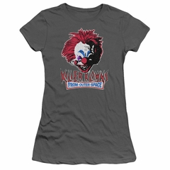 Killer Klowns From Outer Space Juniors Shirt Rough Clown Charcoal T-Shirt