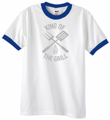 King Of The Grill Ringer Shirt Barbecue Utensils Adult Shirt