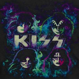 Kiss Colorful Fire Shirts