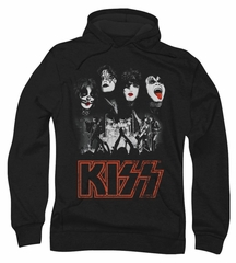 Kiss Rock Band Hoodie Sweatshirt Rock The House Black Adult Hoody Sweat Shirt