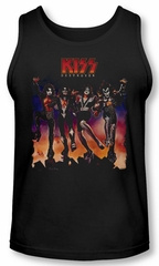 Kiss Rock Band Tank Top Destroyer Cover Black Tanktop