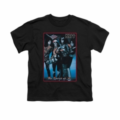 Kiss Shirt Kids Spirit Of 76 Black T-Shirt
