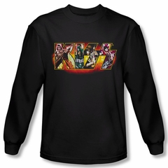 Kiss Shirt Rock Band Stage Logo Long Sleeve Black Tee T-Shirt