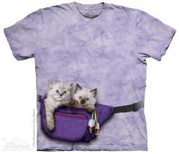 Kitten Fanny Pack Shirt Tie Dye Adult T-Shirt Tee