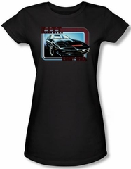 Knight Rider Juniors T-shirt Kitt Classic Black Tee Shirt