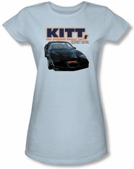 Knight Rider Juniors T-shirt Original Smart Car Light Blue Tee Shirt