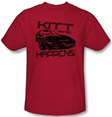 Knight Rider Kids T-shirt Kitt Happens Youth Red Tee Shirt