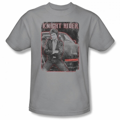 Knight Rider Shirt Distressed Photo Silver T-Shirt