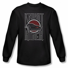 Knight Rider Shirt Logo Long Sleeve Black Tee T-Shirt